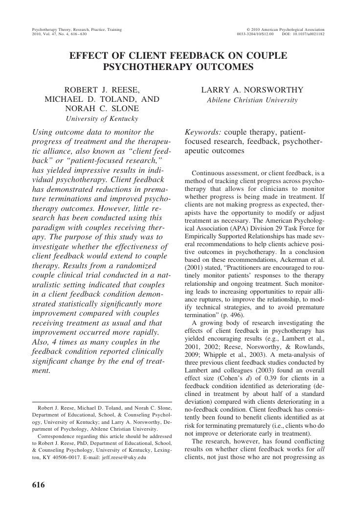 Psychotherapy Theory, Research, Practice, Training                                      © 2010 American Psychological Asso...