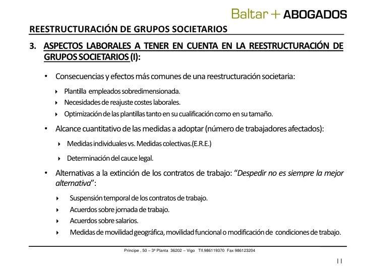 Reestructuracion grupos societarios