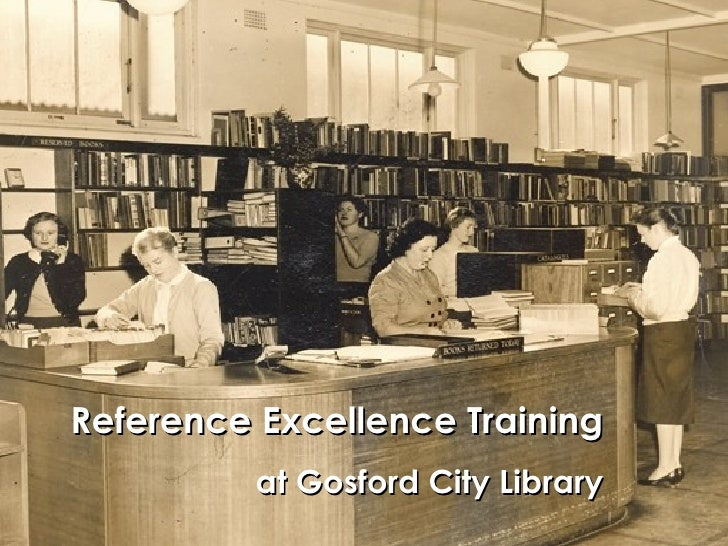 Reference Excellence Training at Gosford City Library