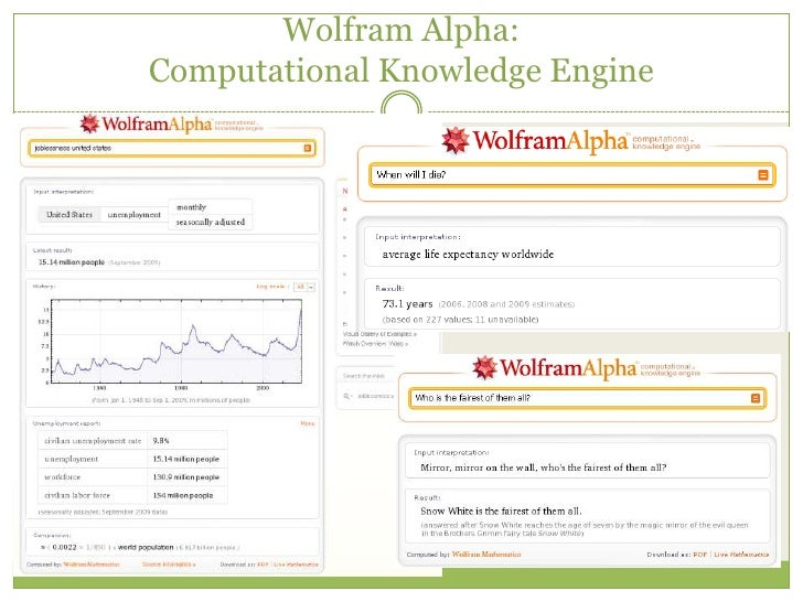 WolframAlpha – The Computational Knowledge Engine
