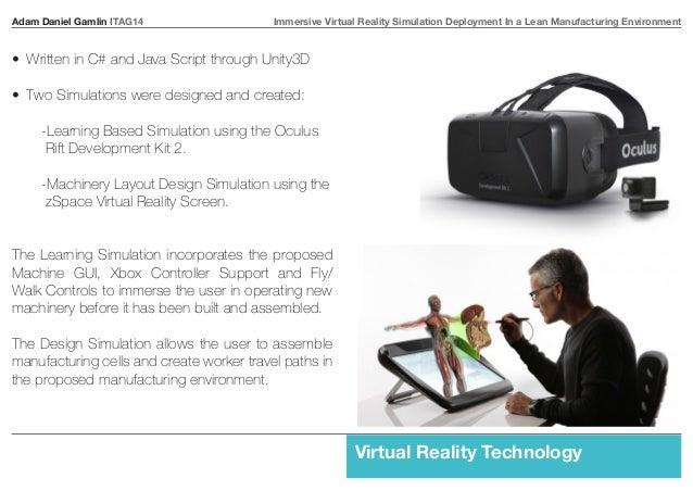 Adam Daniel Gamlin ITAG14 Immersive Virtual Reality Simulation Deployment In a Lean Manufacturing Environment  Virtual Rea...