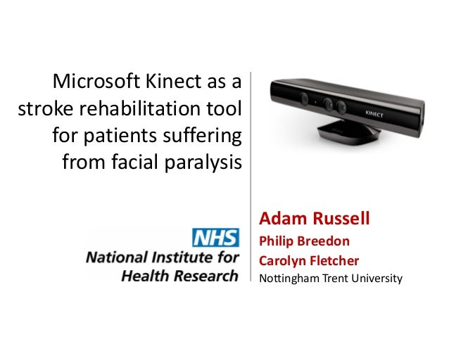 Microsoft Kinect as a stroke rehabilitation tool for patients suffering from facial paralysis Adam Russell Philip Breedon ...