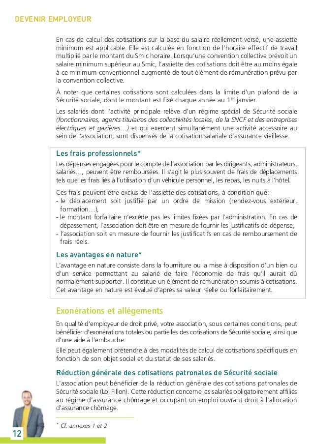 Guide urssaf l association et la protection sociale - Plafond horaire de la securite sociale ...