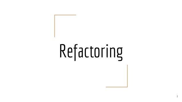 Refactoring 1