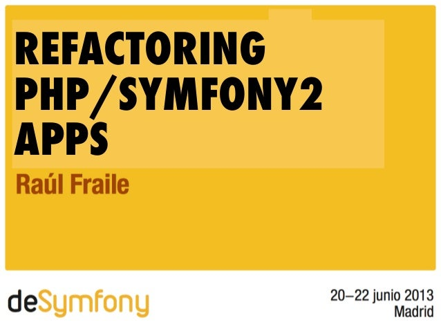 REFACTORINGPHP/SYMFONY2APPS