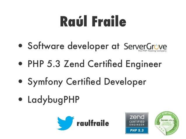 Refactoring PHP/Symfony2 apps Slide 3
