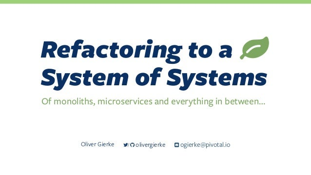 Refactoring to a