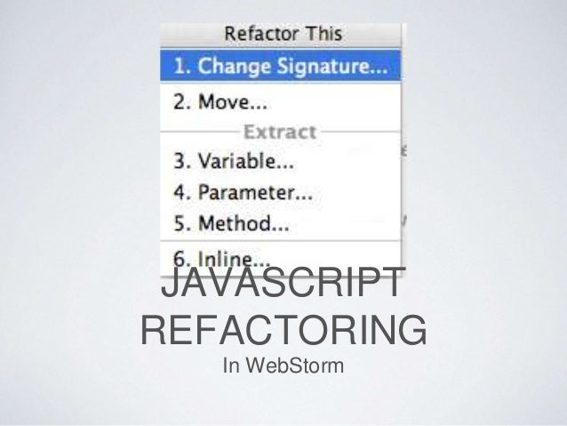 The Ide S Refactoring Tools Allow You To Restructure Code Without Breaking It Inspect Transform Tool Enables Run Powerful Inspections Across
