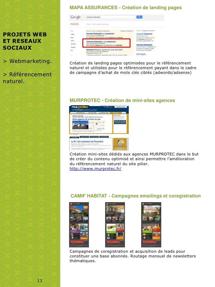 MAPA ASSURANCES - Création de landing pagesPROJETS WEBET RESEAUXSOCIAUX> Webmarketing.   Création de landing pages optimis...