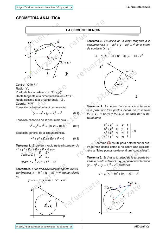 Circunferencia en geometria anal tica for Exterior tangente y secante