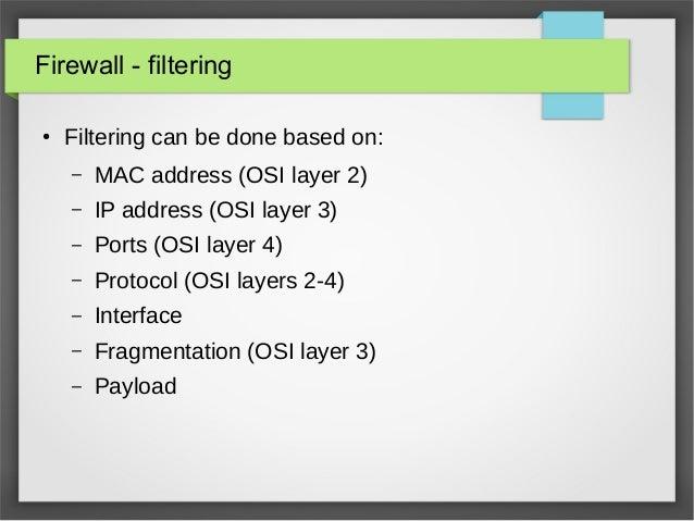 MAC Address filtering using Iptables