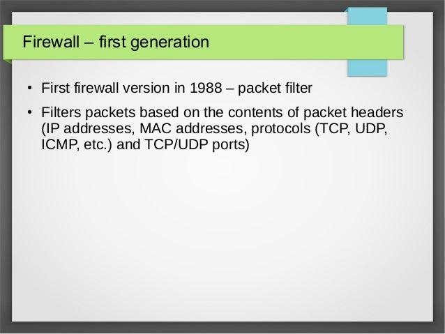 Basics of firewall, ebtables, arptables and iptables