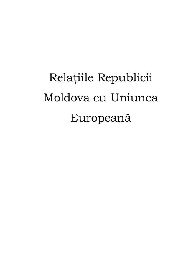 Relaţiile Republicii Moldova cu Uniunea Europeană