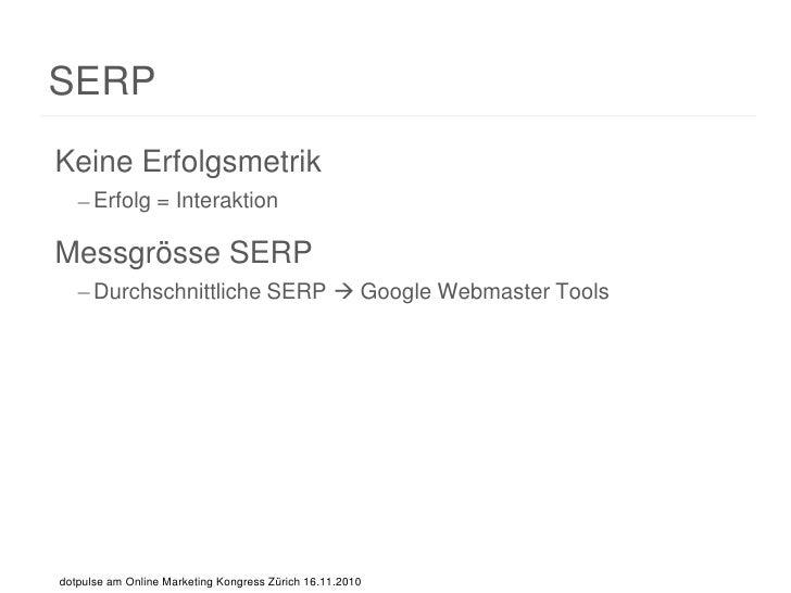 Suchmaschinenmarketing mit Web Analytics - dotpulse Webagentur AG