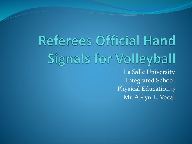 Referees Official Hand Signals for Volleyball