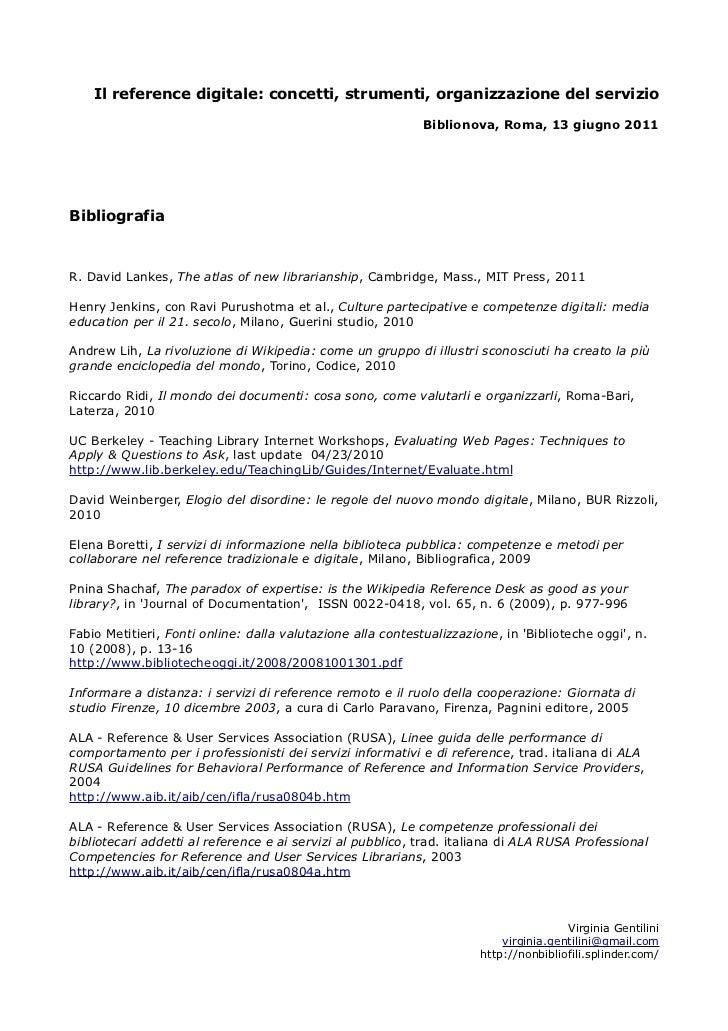 Il reference digitale: concetti, strumenti, organizzazione del servizio                                                   ...
