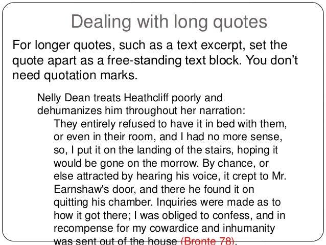 essay quote format