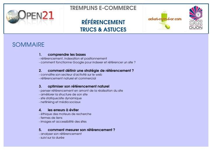 TREMPLINSECOMMERCE                                      RÉFÉRENCEMENT                                    TRUCS&ASTUCES...