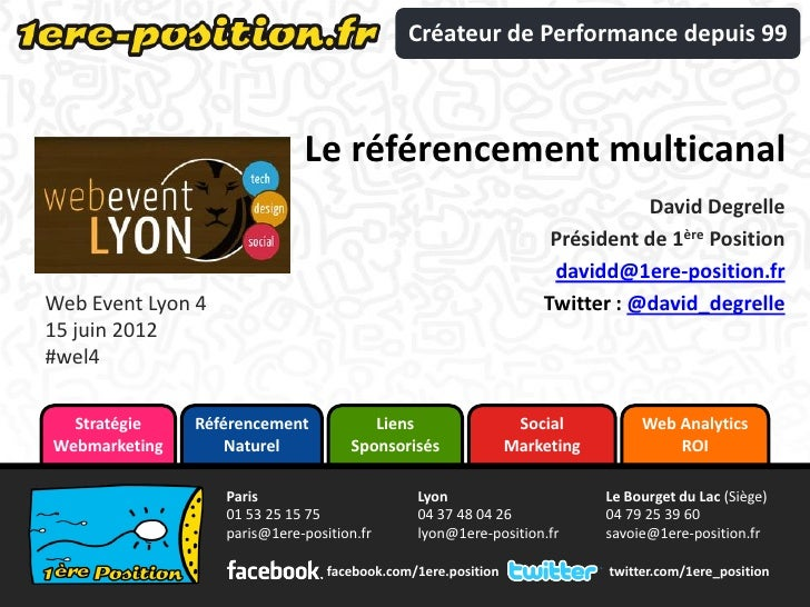 Créateur de Performance depuis 99                              Le référencement multicanal                                ...