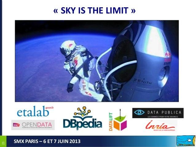 2323SMX PARIS – 6 ET 7 JUIN 2013« SKY IS THE LIMIT »