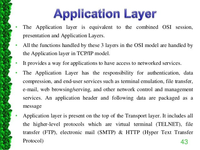 Reference models in Networks: OSI & TCP/IP