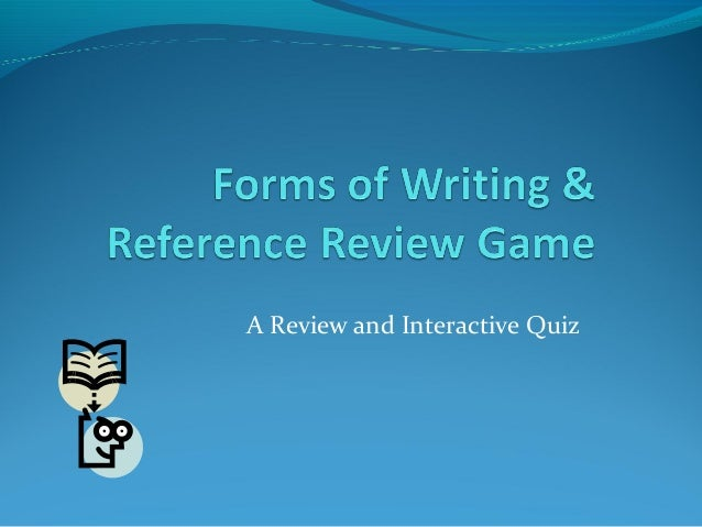 A Review and Interactive Quiz