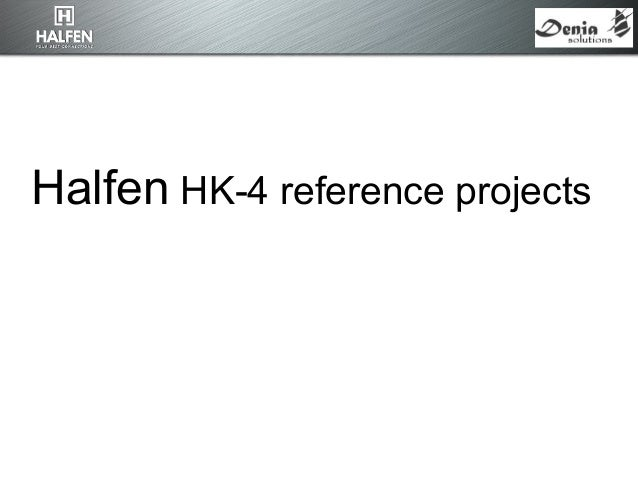 Halfen HK-4 reference projects