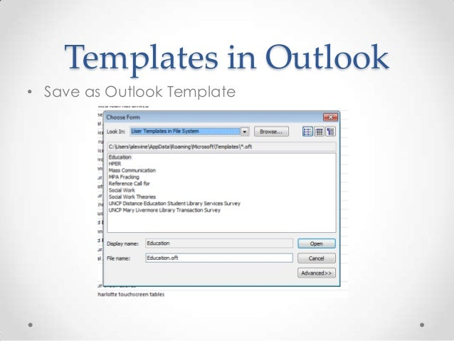 Reference templates for distance education students for Saving a template in outlook