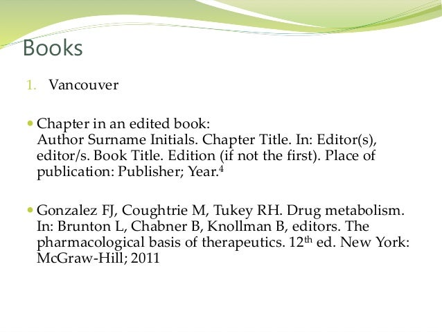 Reference writing books 14 1 vancouver chapter ccuart Gallery