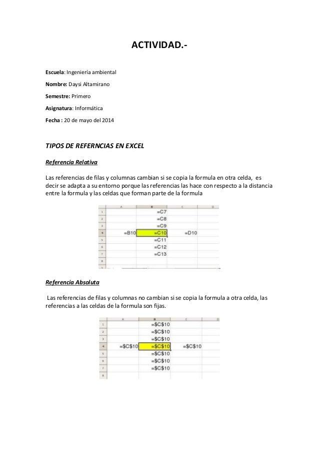 ACTIVIDAD.- Escuela: Ingeniería ambiental Nombre: Daysi Altamirano Semestre: Primero Asignatura: Informática Fecha : 20 de...