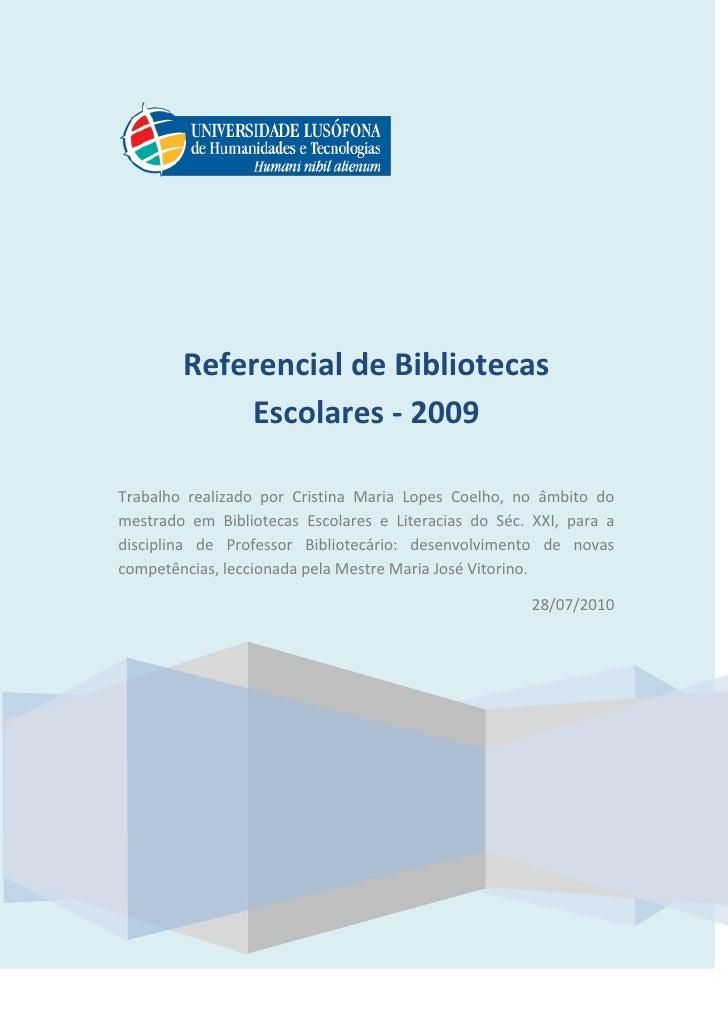 Referencial de formação contínua be 2009