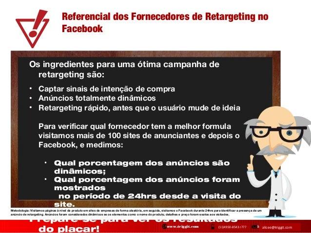 Referencial dos Fornecedores de Retargeting no Facebook Os ingredientes para uma ótima campanha de retargeting são: • Capt...