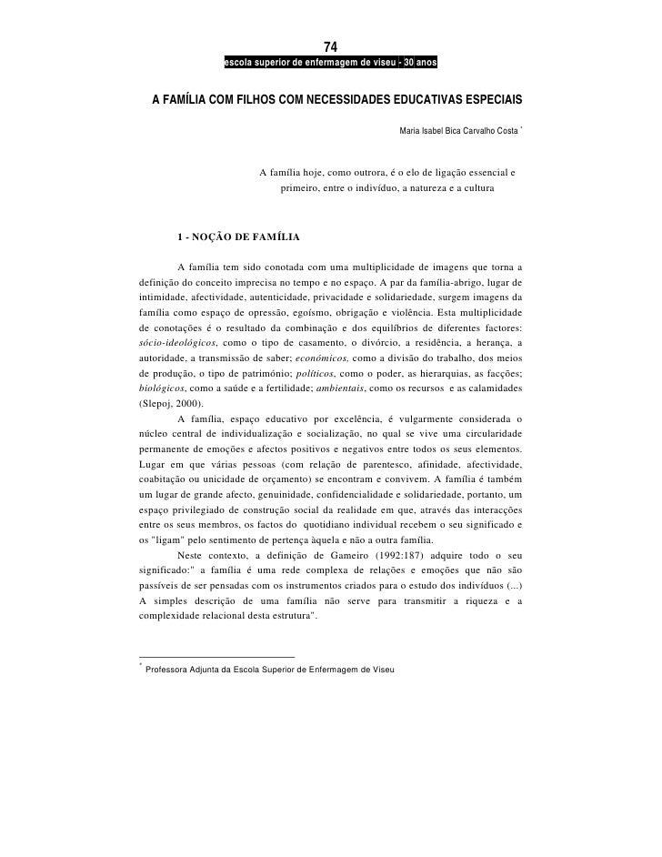 74                       escola superior de enfermagem de viseu - 30 anos     A FAMÍLIA COM FILHOS COM NECESSIDADES EDUCAT...