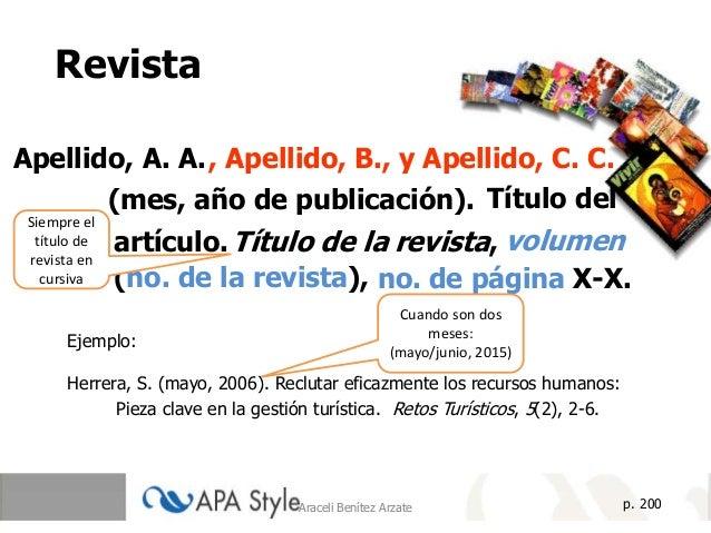 Referencias Apa 2019 Araceli Benitez