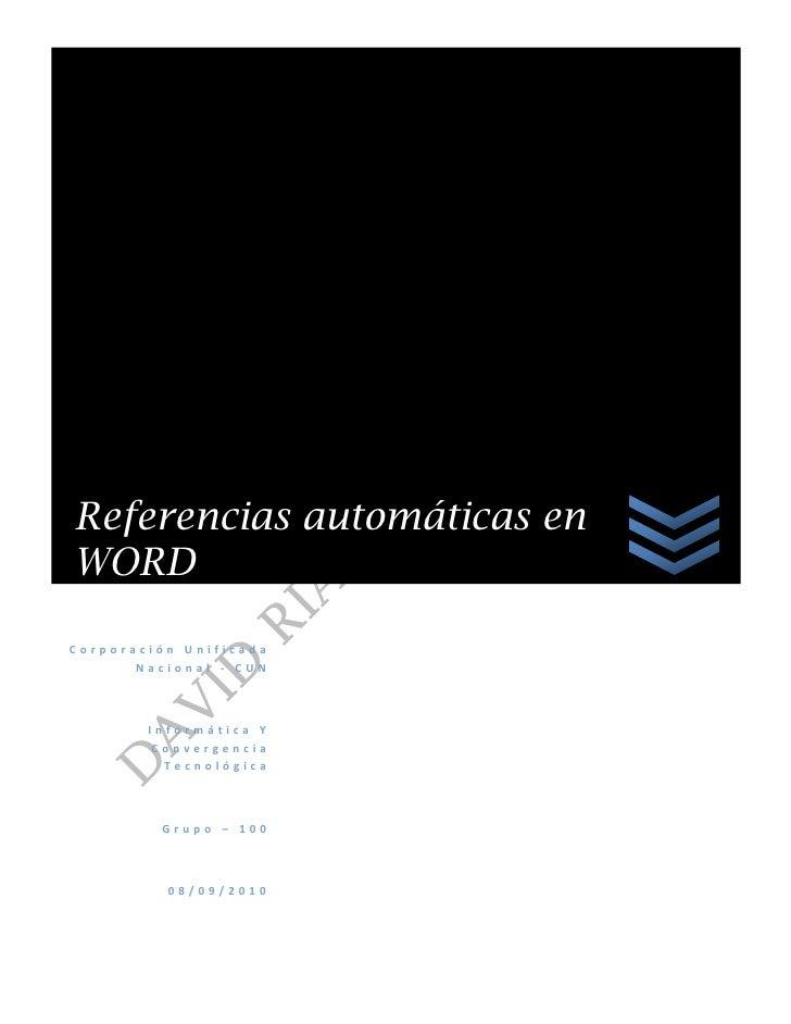 Referencias automaticas en pdf