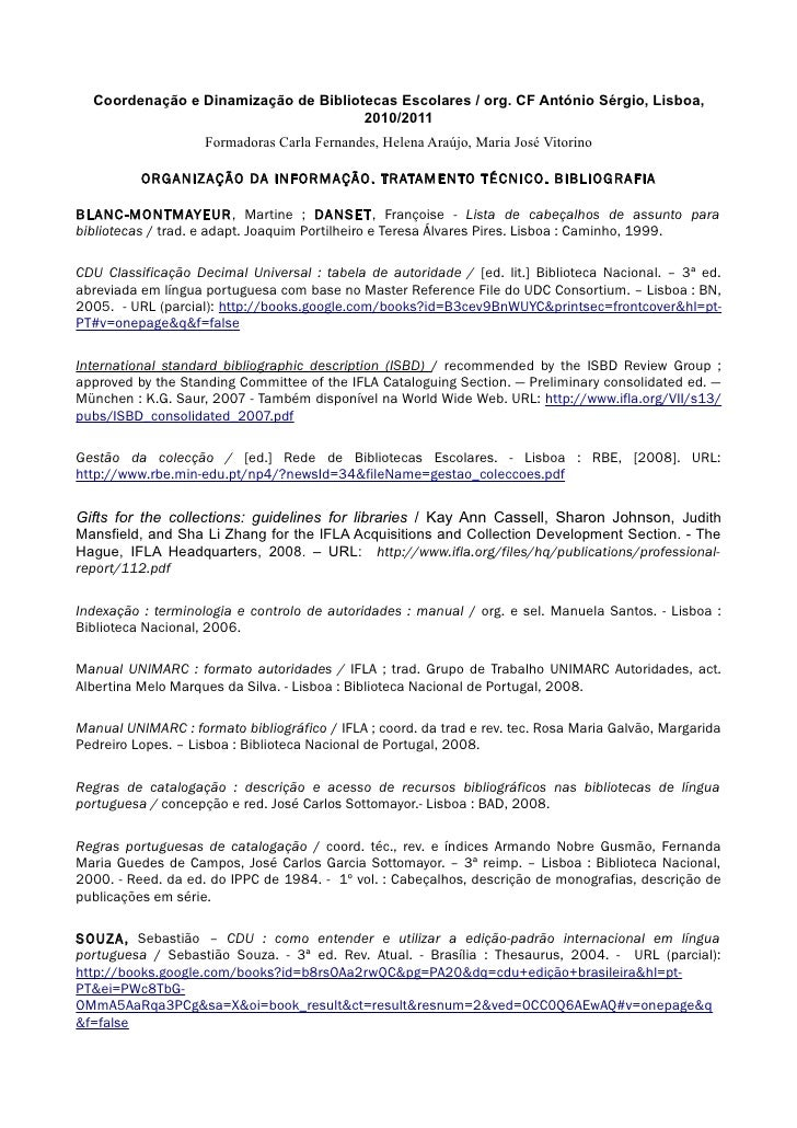 Coordenação e Dinamização de Bibliotecas Escolares / org. CF António Sérgio, Lisboa,                                      ...