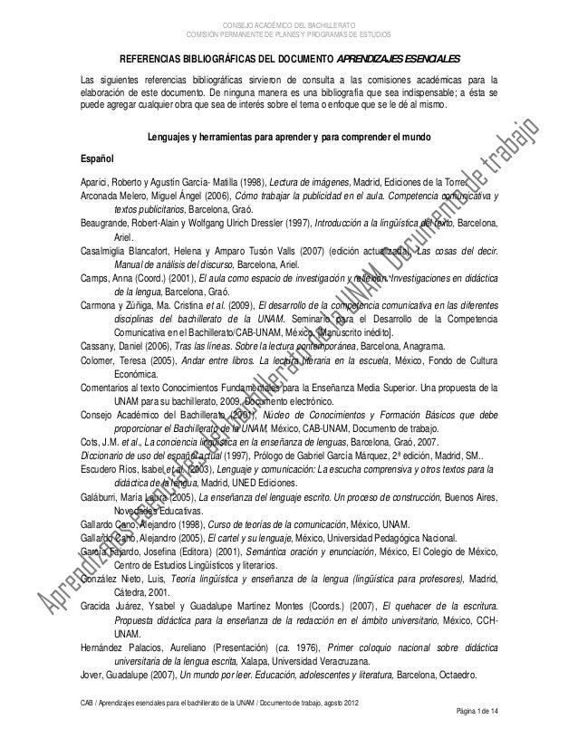 CONSEJO ACADÉMICO DEL BACHILLERATO                                     COMISIÓN PERMANENTE DE PLANES Y PROGRAMAS DE ESTUDI...