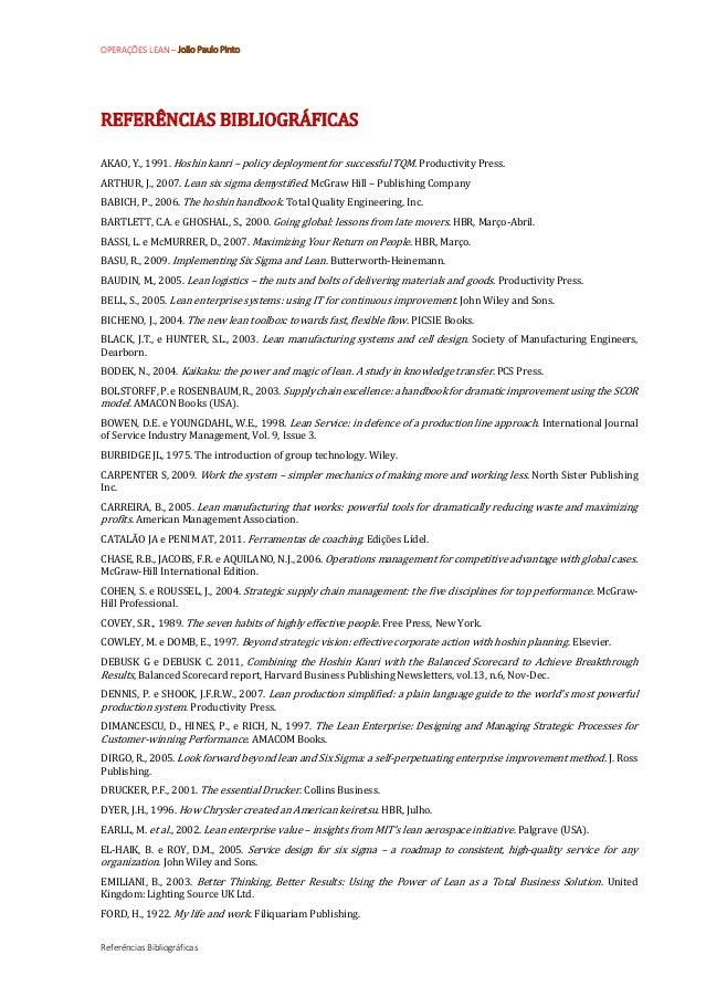 Referencias Bibliograficas Lean Management