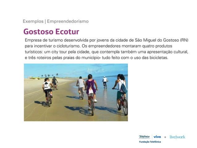 Gostoso Ecotur Exemplos | Empreendedorismo Empresa de turismo desenvolvida por jovens da cidade de São Miguel do Gostoso (...