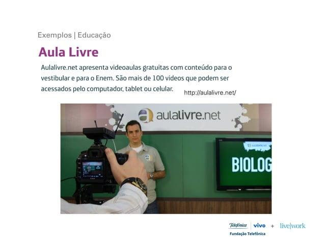 Aula Livre Aulalivre.net apresenta videoaulas gratuitas com conteúdo para o vestibular e para o Enem. São mais de 100 vide...
