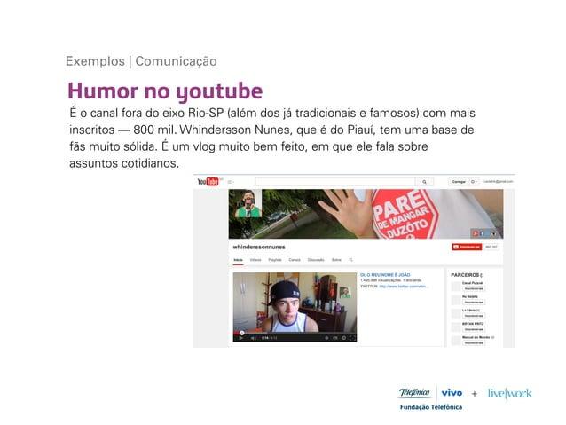 Humor no youtube Exemplos | Comunicação É o canal fora do eixo Rio-SP (além dos já tradicionais e famosos) com mais inscri...