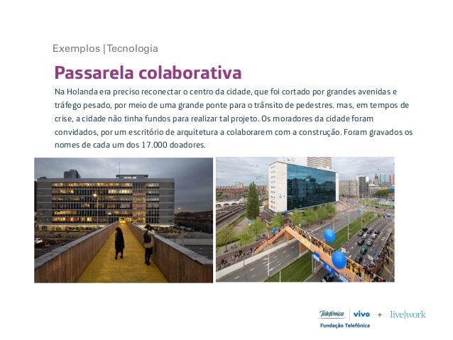 Passarela colaborativa Na Holanda era preciso reconectar o centro da cidade, que foi cortado por grandes avenidas e tráfeg...
