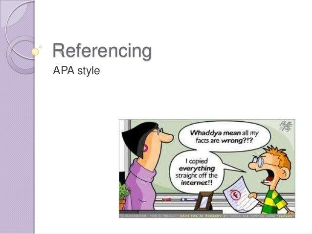 ReferencingAPA style