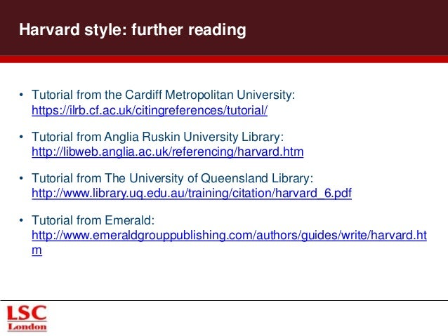 harvard referencing cardiff