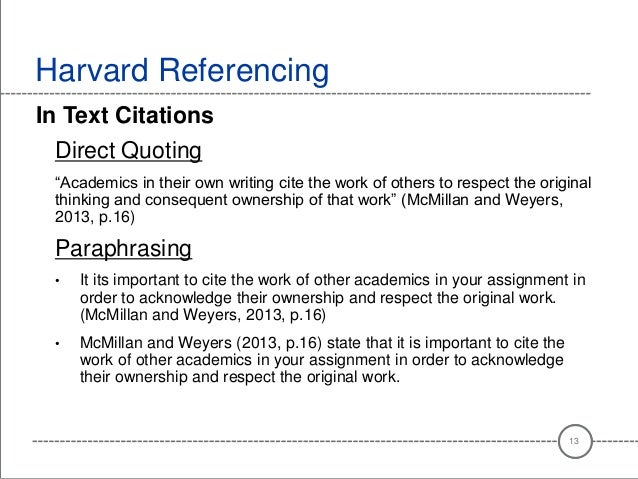 Harvard referencing essay