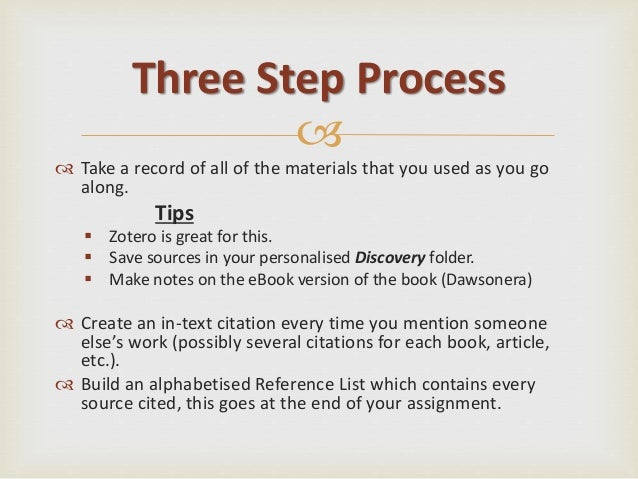 Referencing and zotero arts three step process 9 ccuart Image collections