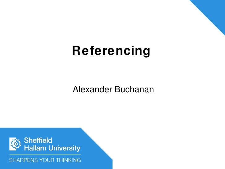 Referencing Alexander Buchanan