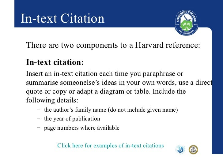 how to cite within an essay harvard
