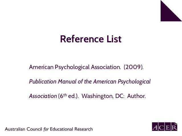 referencing dictionary apa 6th edition
