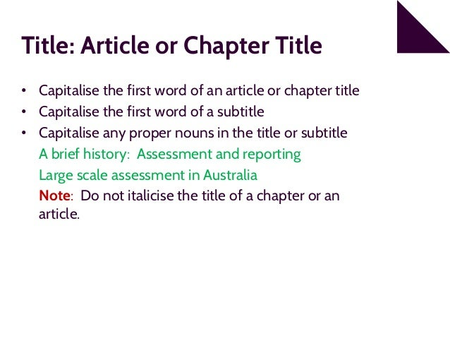 apa 6th edition referencing part 2 reference list